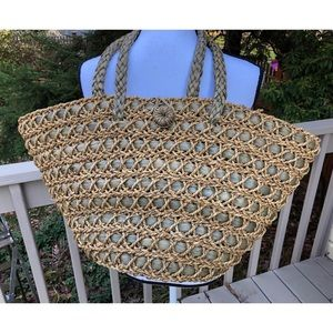 Life Is Good ' Good Karma' Straw Bag Tote